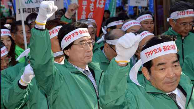 Biden's Japan visit protested by thousands opposing TPP