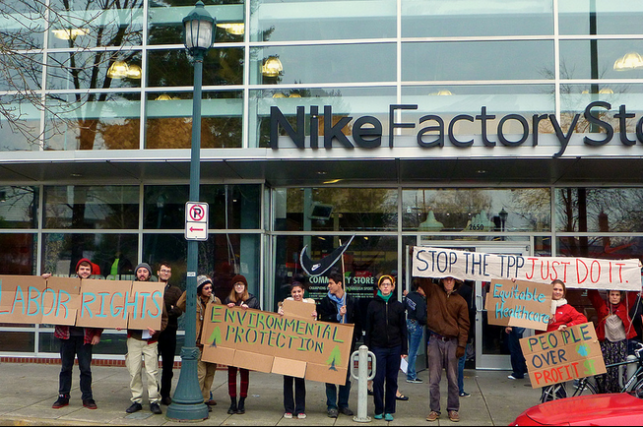 Black Friday Protest highlights Nike's Role in Secretive Trade Agreement