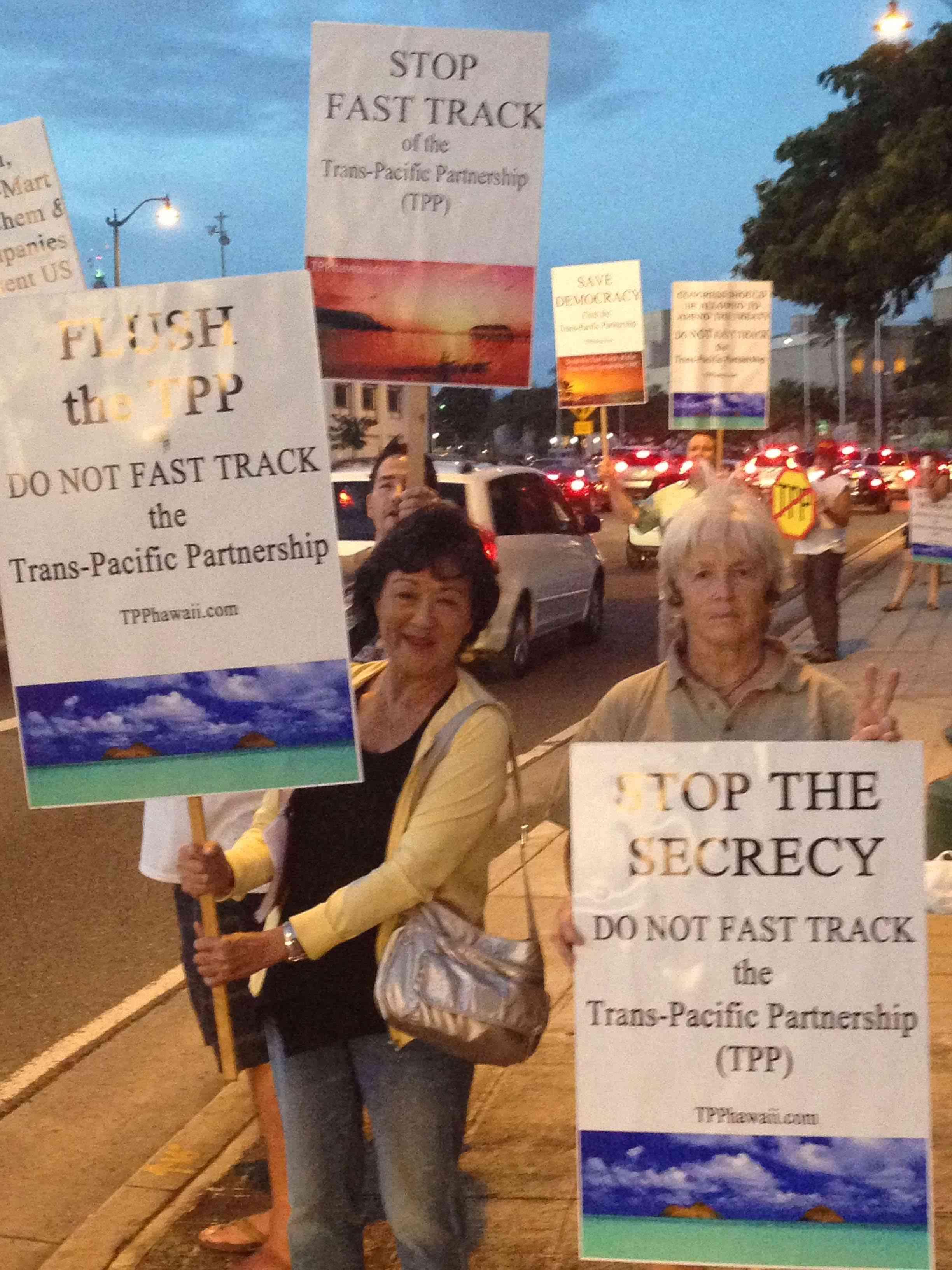 Anti-TPP Campaign Raises Awareness in Honolulu
