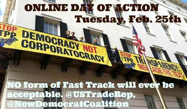 Online Day of Action: Tuesday, Feb. 25th!