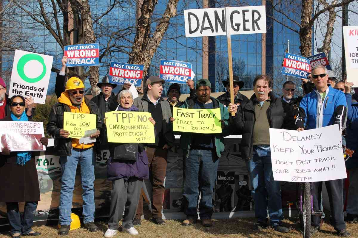 """Rally Urges Rep. Delaney to Vote No on """"Fast Track,"""" as Gaithersburg Joins Continent-Wide Day of Protests"""