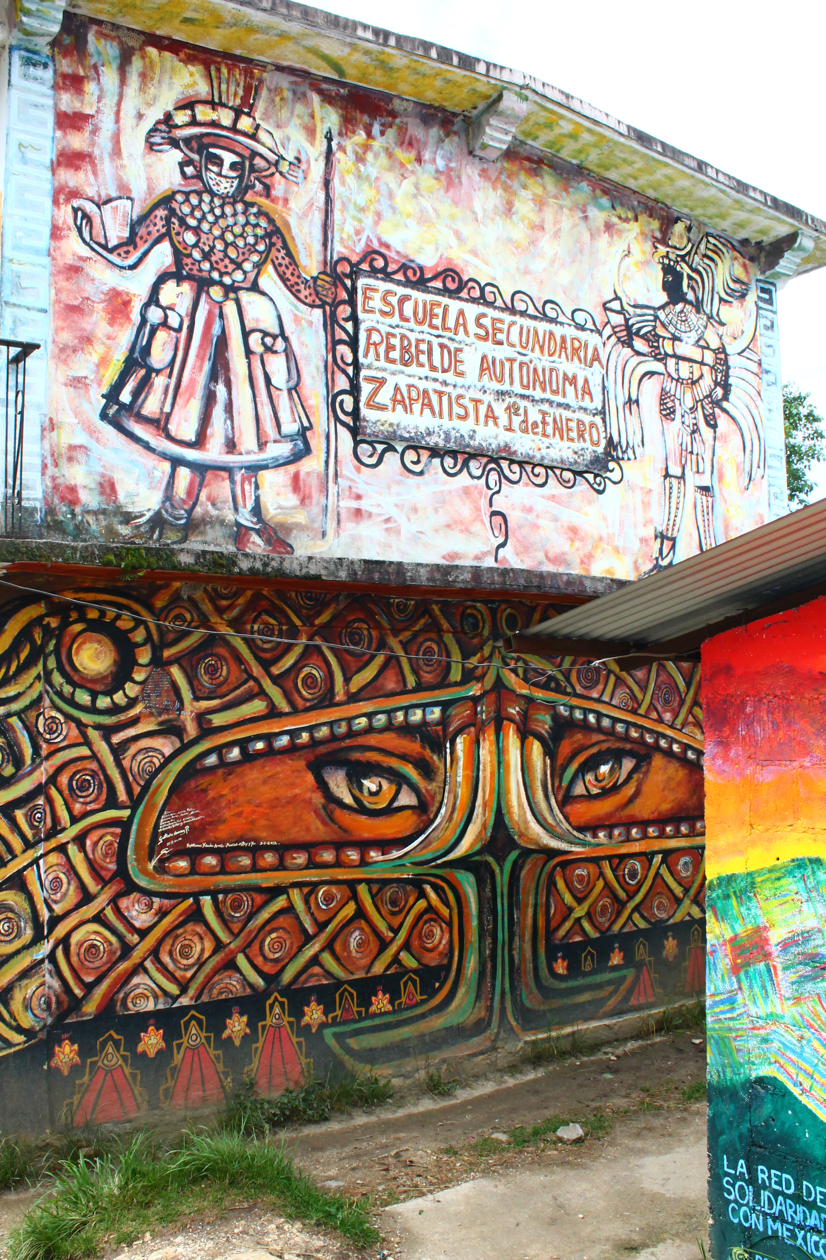 A world where many fit reflecting on zapatista resistance for Mural zapatista