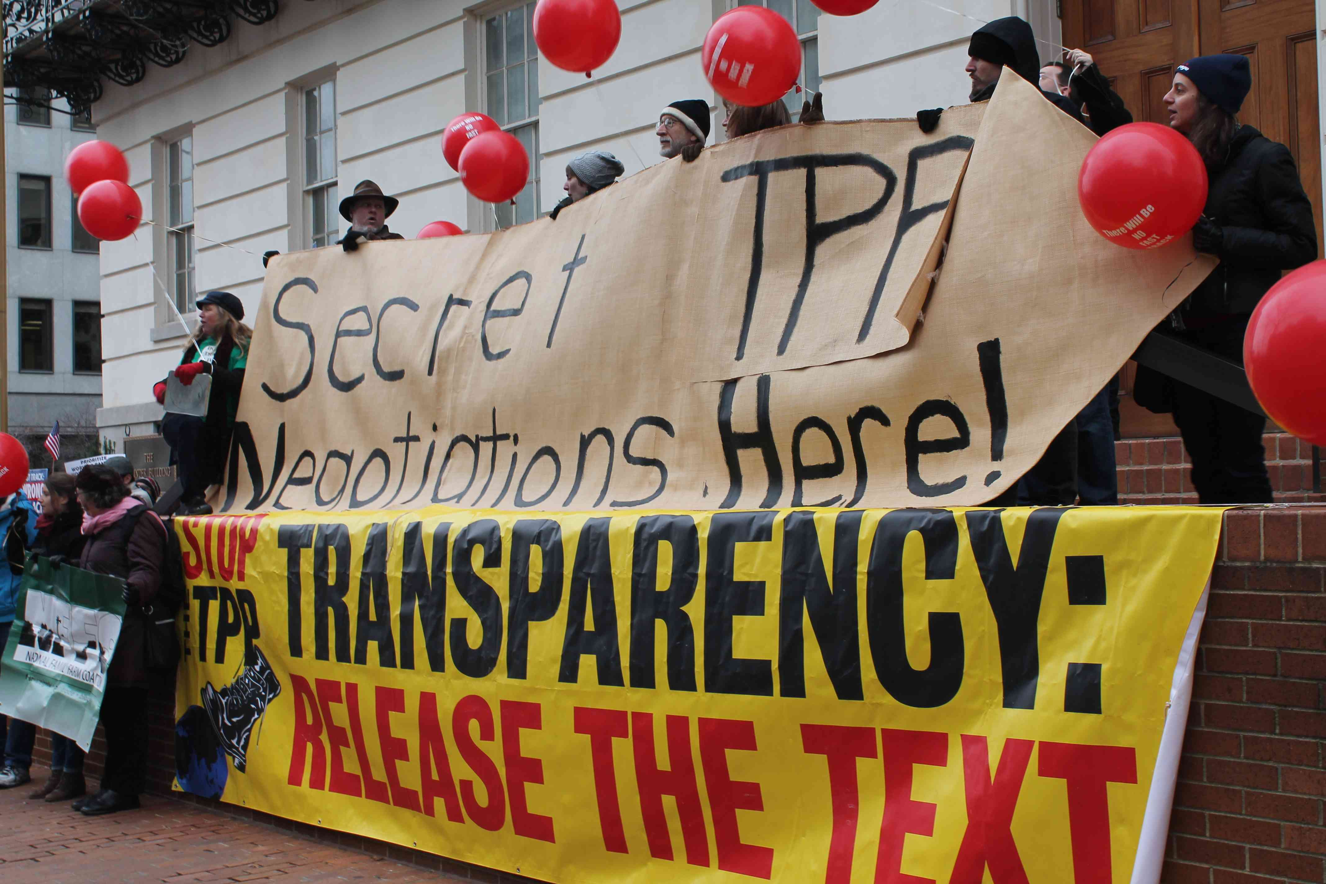 USTR Protests: Stop the Secrecy, Stop Fast Track