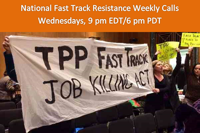 National Fast Track Resistance Weekly Calls