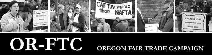 Oregon Fair Trade Campaign--Action Schedule