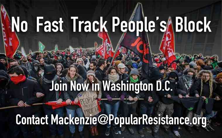 No Fast Track People's Block