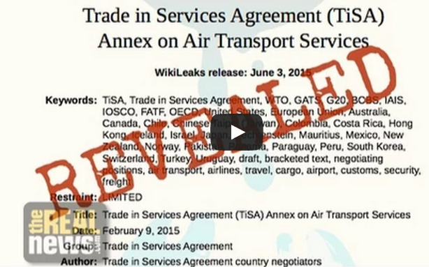 Kevin Zeese Discusses The Trade In Services Agreement Trade For