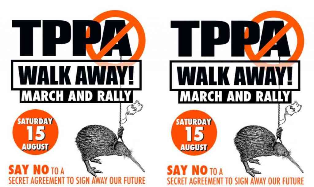 Democracy is Dying: Rallies & Marches Nationwide in NZ to Stop the TPP
