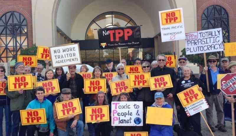 Santa Rosa 'TPP is Betrayal' Action