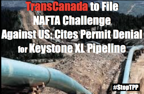 TransCanada Will Sue In Trade Tribunal Over KXL