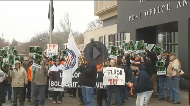 North Dakotans Protest the TPP