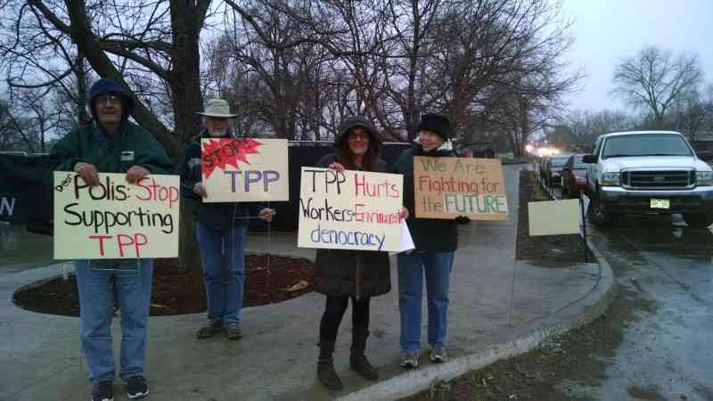 Voters Tell Rep. Polis to Stop Supporting the TPP