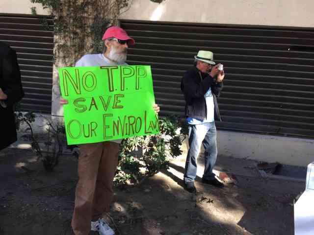 LA Marches to Flush the TPP