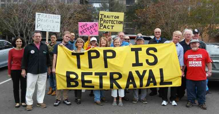 Tampa, FL: Rally in Rain to Stop the TPP and Confront Rubio
