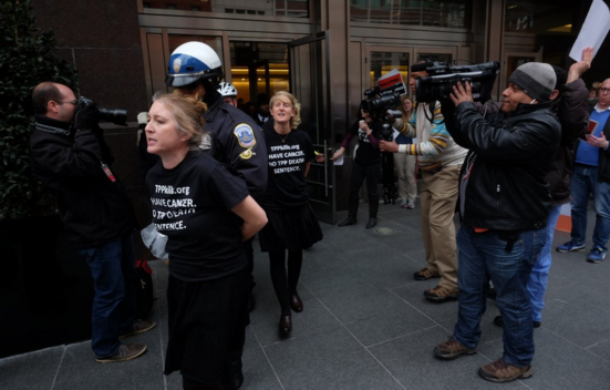 World Cancer Day, Cancer Patients Arrested at PhRMA Headquarters