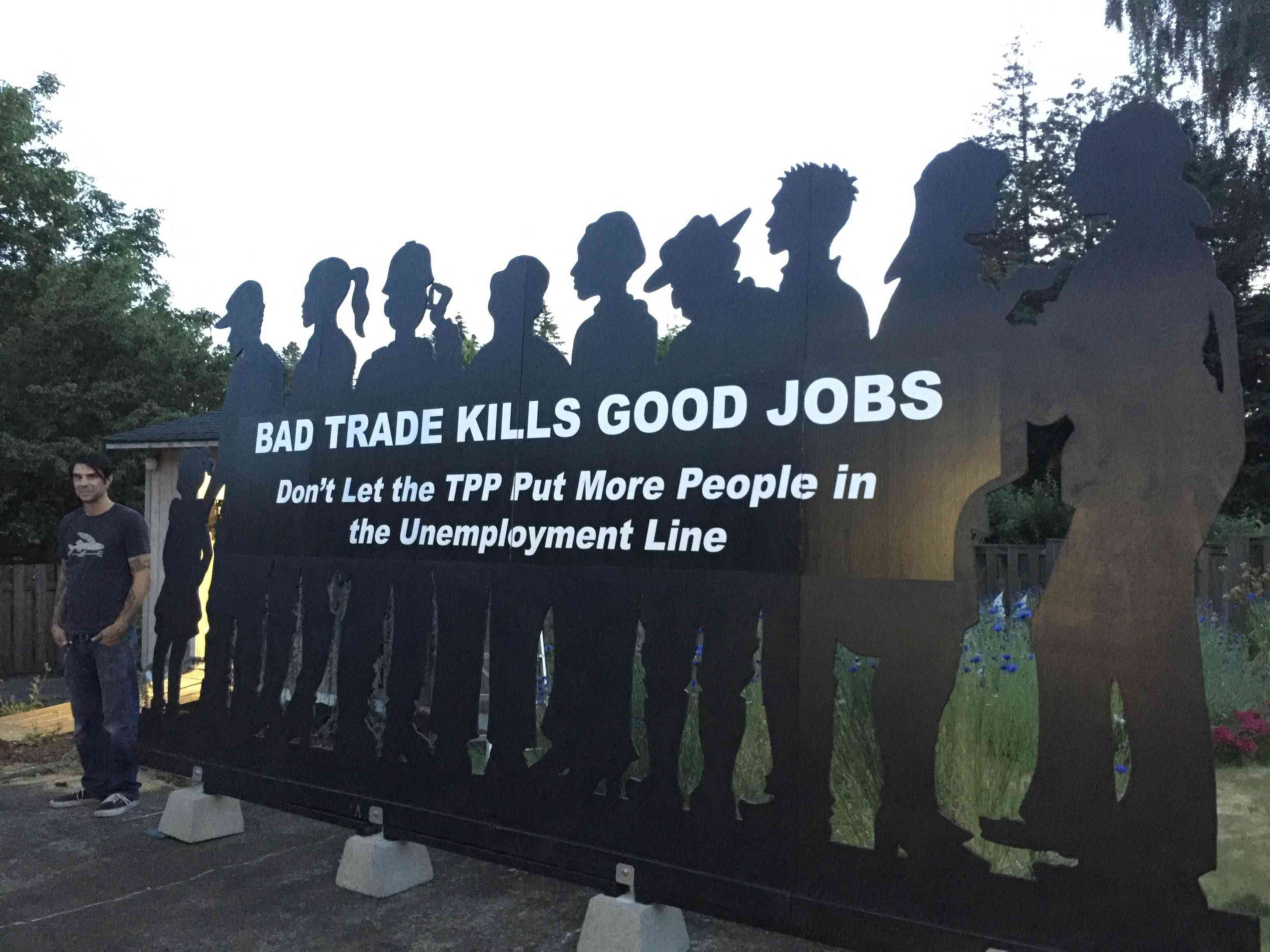 Bad Trade Kills Good Jobs - The #StopTPP Prop Tour