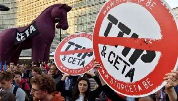 'No TTIP, No CETA!' Brussels Protests Against Free Trade